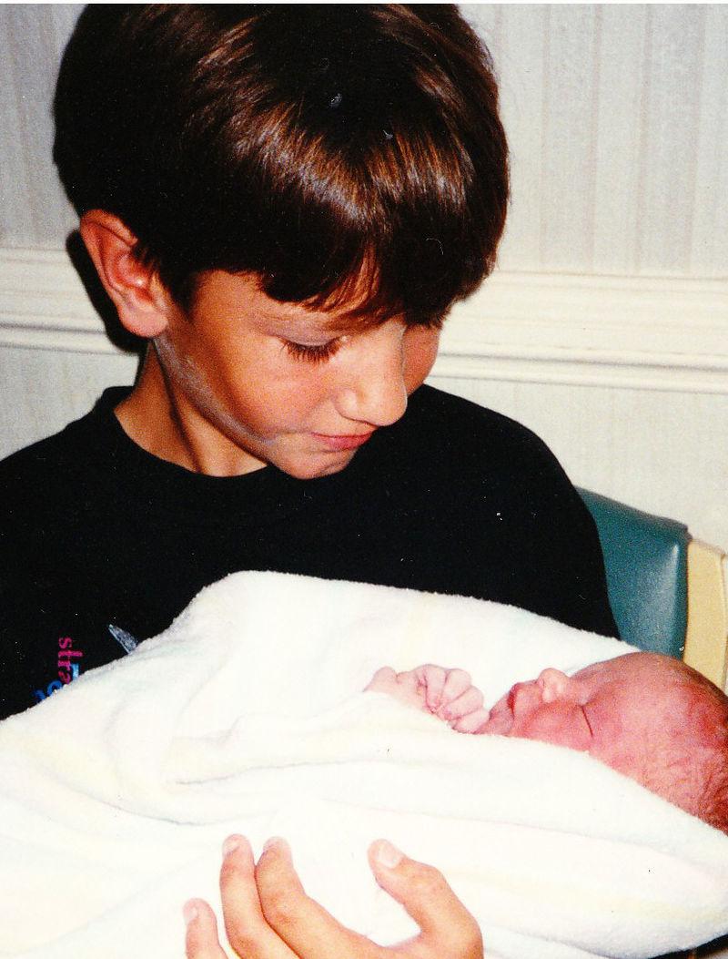Josh with Jed 1997